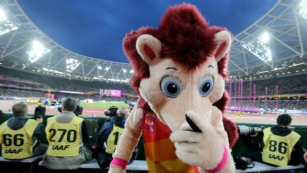 Event mascot Hero the Hedgehog has become an unexpected hit (Martin Rickett/PA)