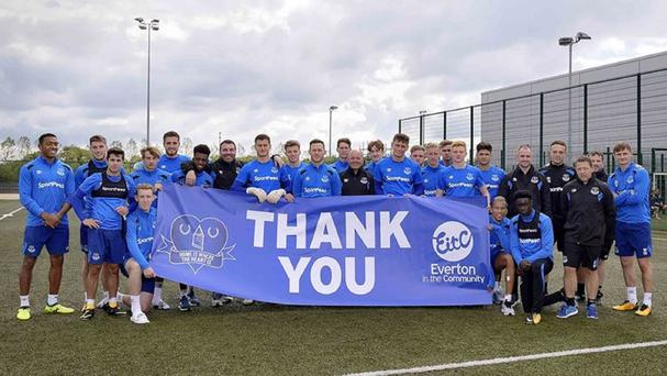 The scheme is partnered with the club's charity, Everton in the Community (Everton Football Club/PA)