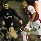 Liverpool's Steven Gerrard and Arsenal's Thierry Henry
