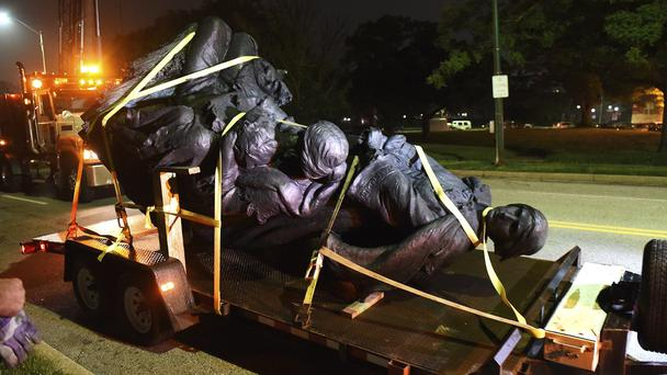 A monument dedicated to the Confederate Women of Maryland on a Truck (Jerry Jackson/AP/PA)