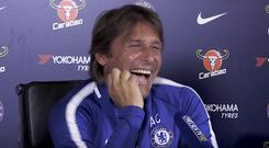 Chelsea manager Antonio Conte at a press conference