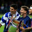 Luis Suarez, Lionel Messi and Neymar