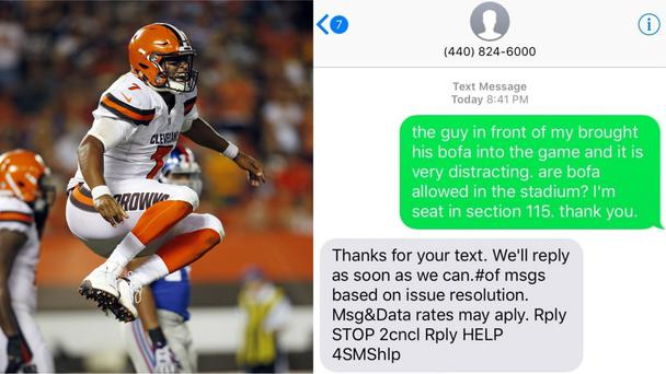 A Cleveland Brown and the text