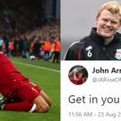 Emre Can celebrates, Riise and his tweets