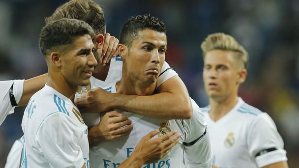 Real Madrid forward Cristiano Ronaldo celebrates scoring a goal