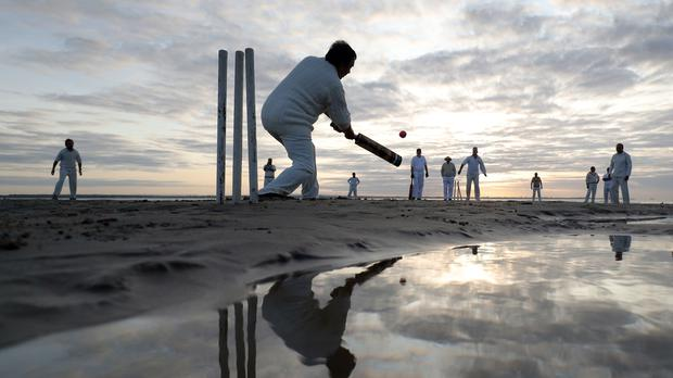 The annual Bramble Bank cricket match