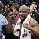 Floyd Mayweather after his fight with Conor McGregor