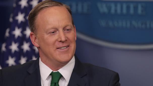 Sean Spicer taking questions