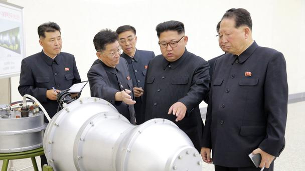 An image from the North Korean government of leader Kim Jong Un