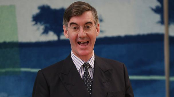 Jacob Rees-Mogg gesticulates during a recent meeting with supporters (Yui Mok/PA)