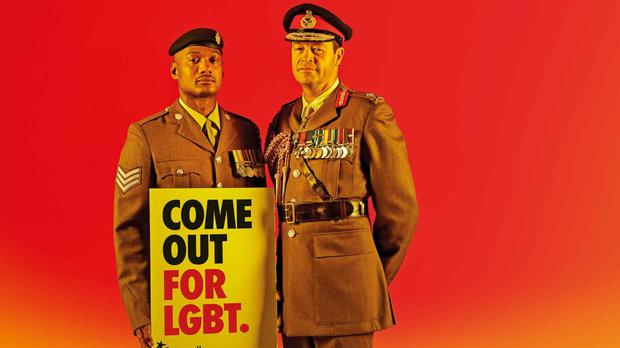 Members of the army take part in Stonewall's campaign (Stonewall)