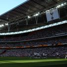 Tottenham play against Burnley at Wembley Stadium