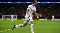 Tottenham Hotspur's Harry Kane celebrates scoring his side's second goal of the game