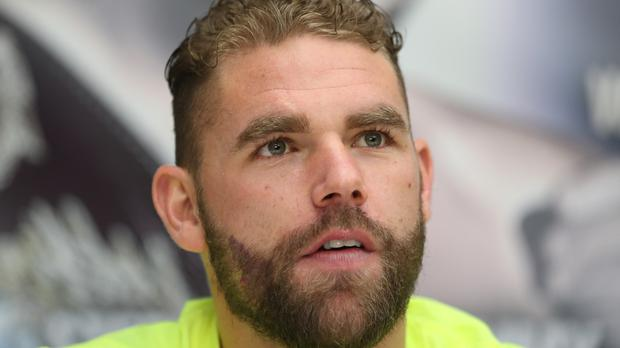 Boxer Billy Joe Saunders during a press conference at Crown Plaza Hotel, Glasgow.