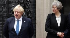 Theresa May and Boris Johnson.