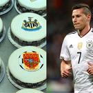 Premier League cakes and footballer Julian Draxler