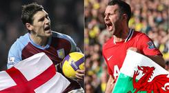 Gareth Barry and Ryan Giggs