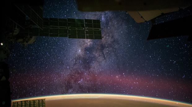 Milky way viewed from the Space Station