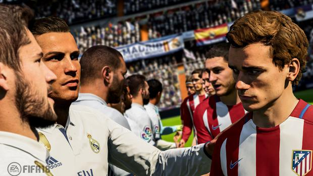 An image from EA Sports' Fifa 18 game