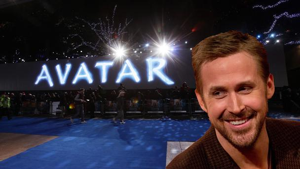 Ryan Gosling and the Avatar logo
