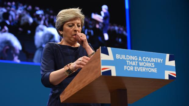 Prime Minister Theresa May delivers her keynote speech at the Conservative Party Conference