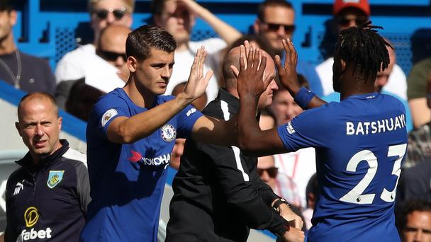 Chelsea strikers Alvaro Morata and Michy Batshuayi