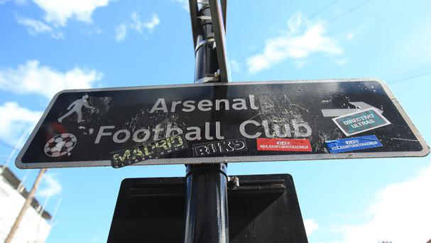 A sign pointing to Arsenal football club (Mike Egerton/PA)