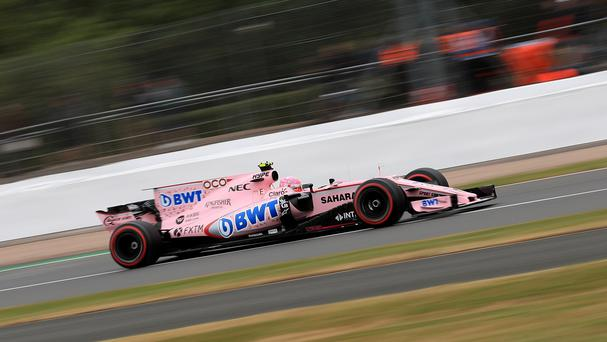 A Force India Formula One car at the 2017 British Grand Prix