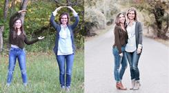 Two of the professional photos taken of the family
