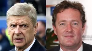 Arsene Wenger and Piers Morgan
