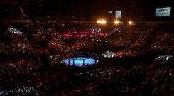 General view of UFC action