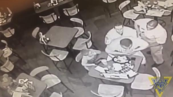 Off-duty Trooper performs Heimlich manoeuvre on fellow diner (New Jersey State Police)