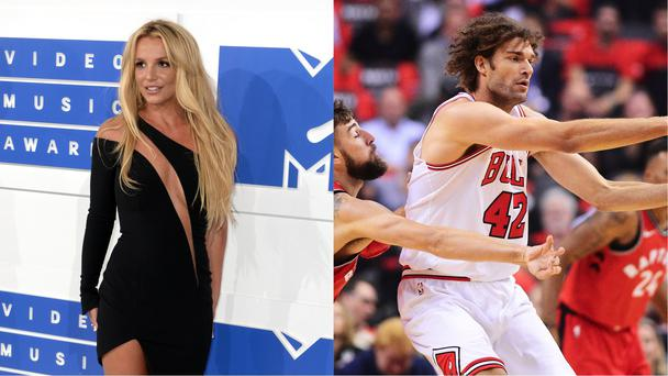 Singer Britney Spears and basketball player Robin Lopez