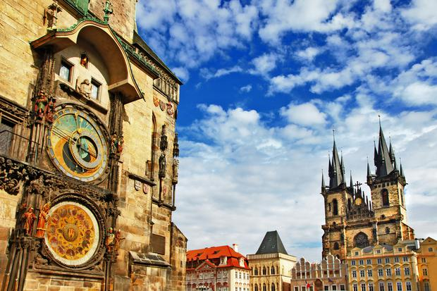 The Old City Hall in Prague with its famous clock (Freeartist/Getty Images)