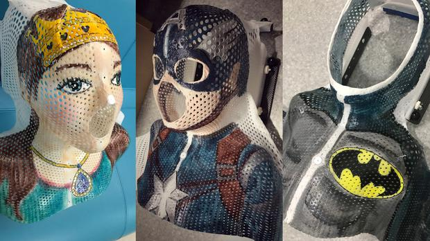 Masks made for a young radiotherapy patient (Lobke Marsden/St James' Hospital)