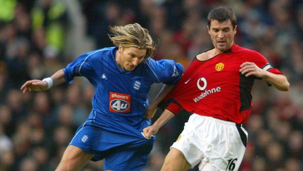 Robbie Savage and Roy Keane in their playing days