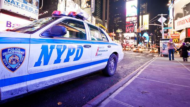 NYPD patrol car in Times Square