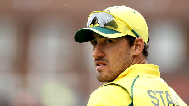 Australia's Mitchell Starc during the 2017 ICC Champions Trophy
