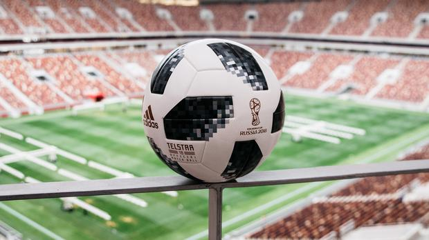 The Telstar 18, Adidas's football for the 2018 World Cup in Russia