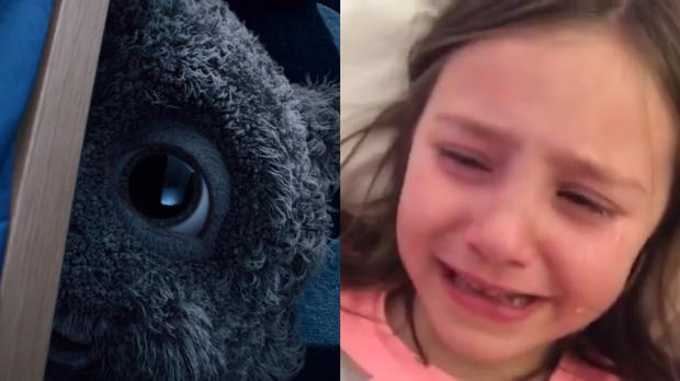 A girl cries at the John Lewis advert