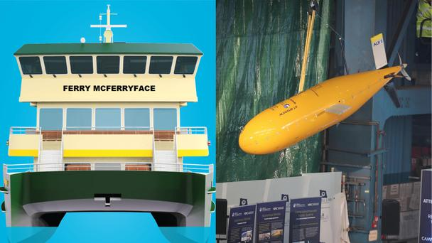 Ferry McFerryface and Boaty McBoatface
