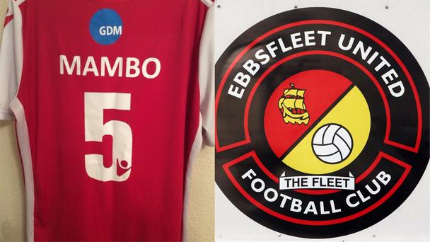 Ebbsfleet United have created a Mambo no. 5 shirt to be auctioned for charity