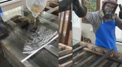 Creating a mirror using silver nirtrate