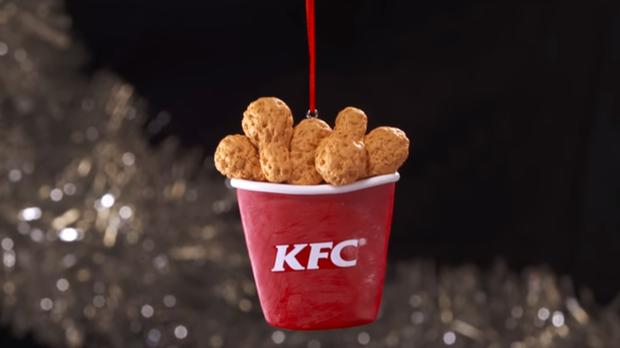 KFC Christmas baubles are now available in a giveaway online (KFC New Zealand)