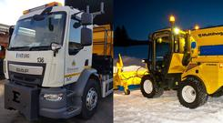 Two new gritters from Doncaster Council which have been named by a public poll