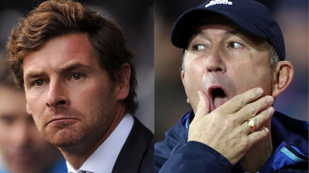 Andre Villas Boas and Tony Pulis