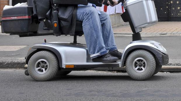 A man has been accused of driving his mobility scooter while drunk (stock photo)