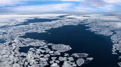 Melting sea ice in the Arctic