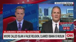 Screenshot of the Jake Tapper interview with Ted Crockett (CNN/Twitter)