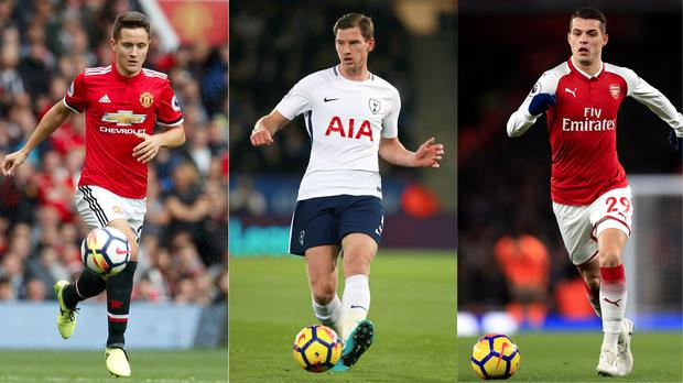 Ander Herrera, Jan Vertonghen and Granit Xhaka